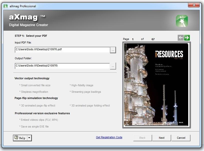 aXmag - Page Flip Book creator