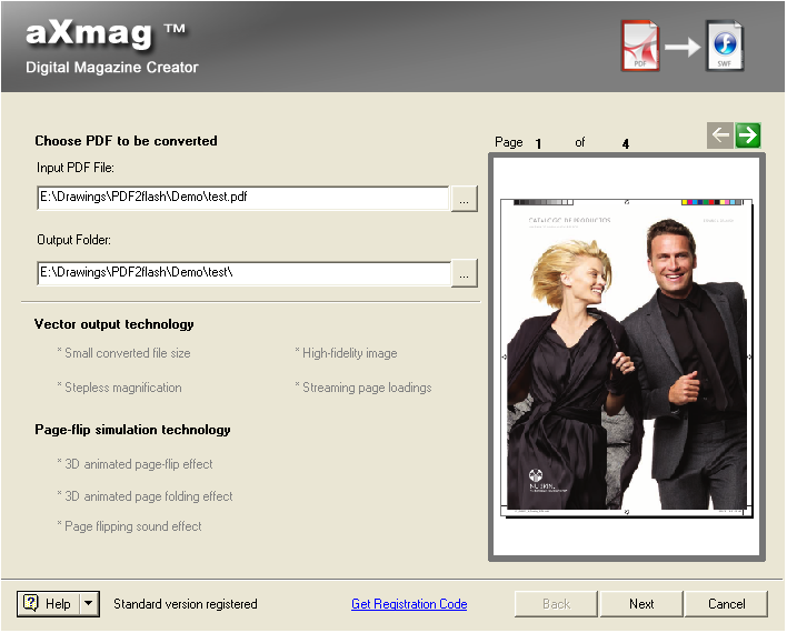 aXmag PDF to Flash Converter 2.4 screenshot