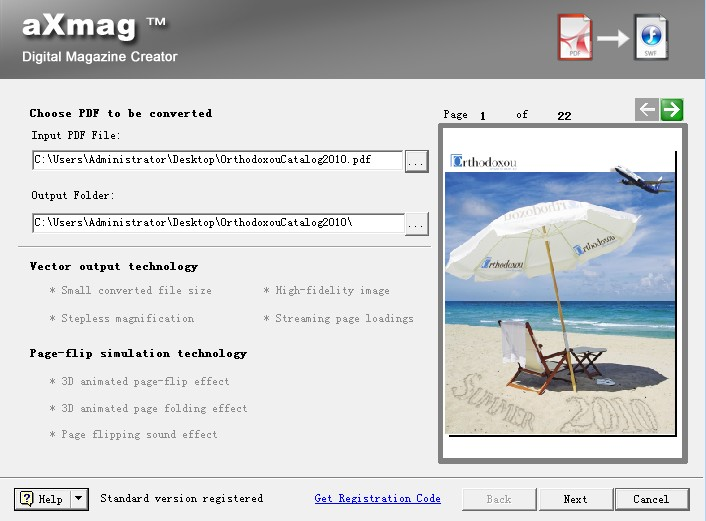 aXmag PDF to ebook Converter screenshot